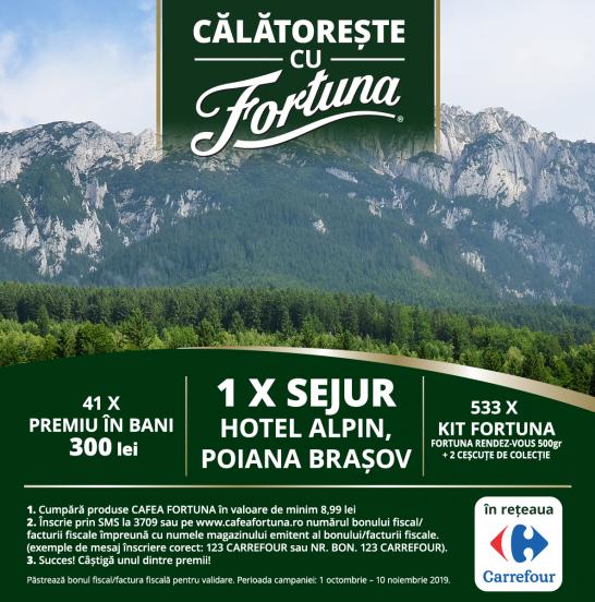 CĂLĂTOREȘTE CU FORTUNA (Carrefour)