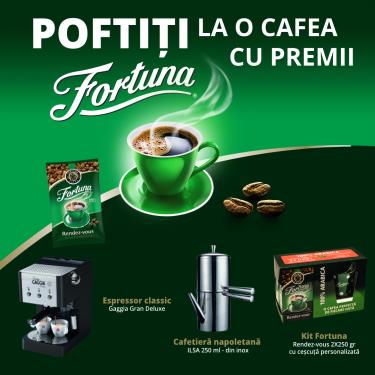 POFTIȚI LA O CAFEA CU PREMII FORTUNA